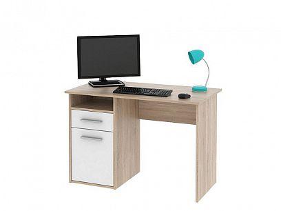 MARK  psací stůl dub sonoma/bílá