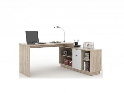 VEGA 02 psací stůl, dub sonoma/bílá