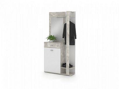 XENA 03 předsíňová stěna, beton/bílá