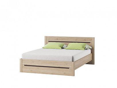 DESJO 53 postel 160 cm, dub san remo/hnědá