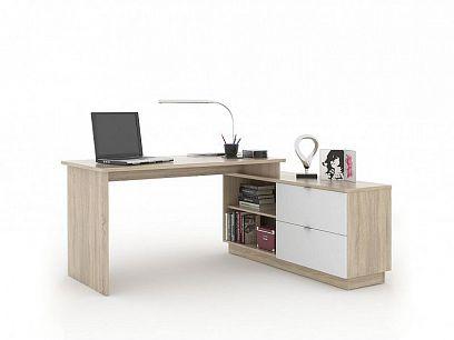 VEGA 01 psací stůl, dub sonoma/bílá