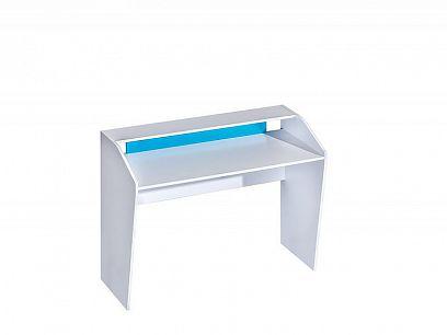 TRUFEL 9- Psací stůl 120, bílá/tyrkys