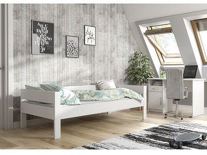 MERLIN postel, bílá mat