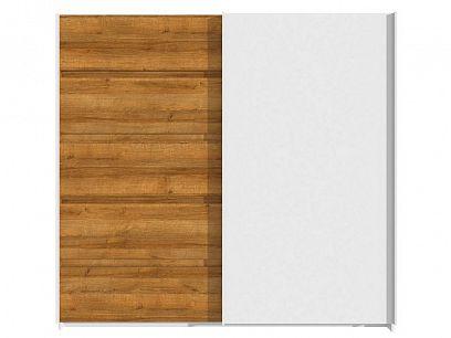 VOLTERA šatní skříň, dub riviéra/bílý lesk