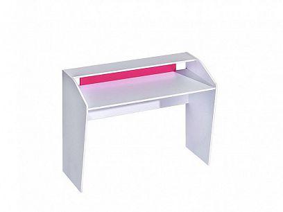 TRUFEL 9 psací stůl 120, bílá/růžová