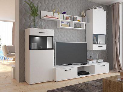BELINDA Obývací stěna, bílá