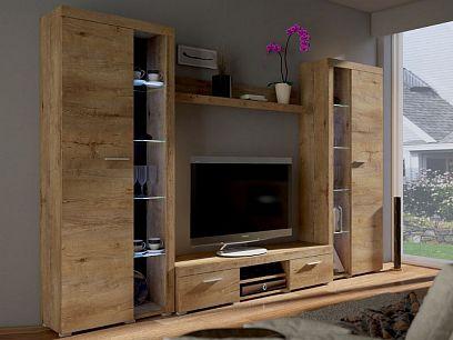 ROBBEN XL obývací stěna, dub lefkas