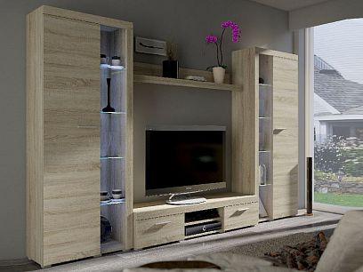 ROBBEN XL obývací stěna, dub sonoma