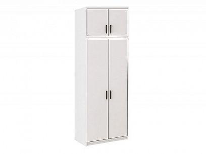 EVERLY šatní skříň s nástavcem 2D, bílá