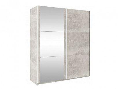 TRENDLINE šatní skříň 130, beton/zrcadlo