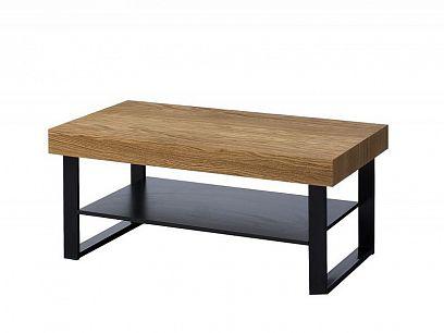 MONURIKI 41 konferenční stolek, dub medový/černý mat