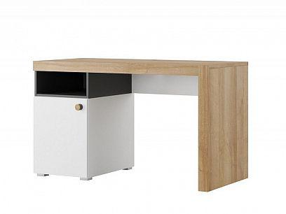 RIVIÉRA 40 psací stůl, černý mat/dub riviéra/bílá mat