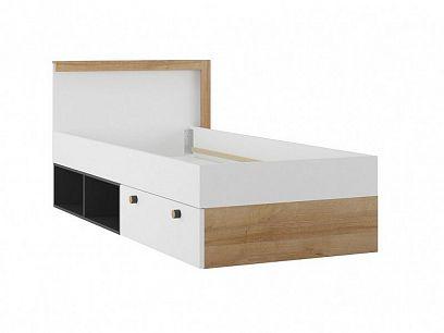 RIVIÉRA 50 postel, černý mat/dub riviéra/bílá mat