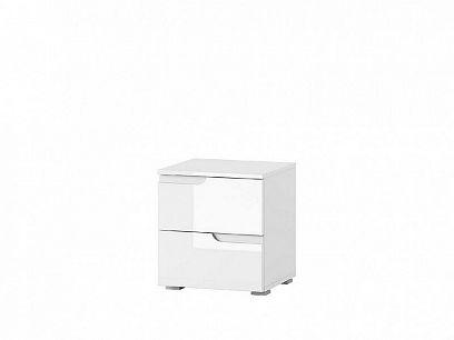 SAMOA 32 Noční stolek, bílá mat/bílá lesk