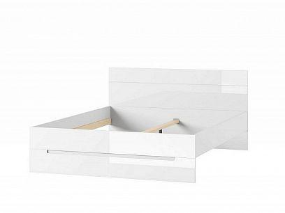 SAMOA 33 postel 160 cm, bílá mat/bílá lesk