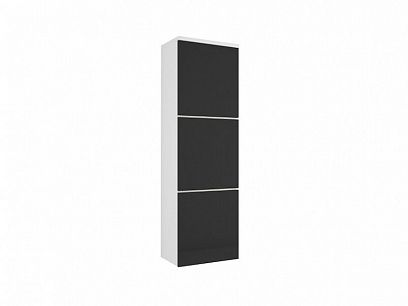 PULA 11 závěsná skříňka, černý lesk/bílá