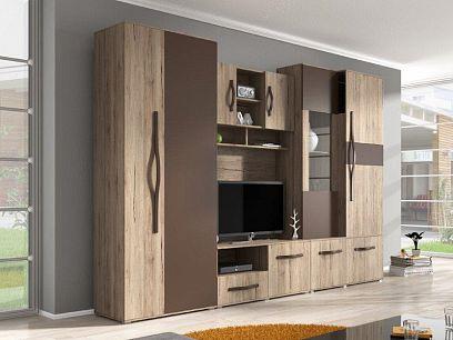 MARGARETA obývací stěna, sann remo rustic / dub hnědý