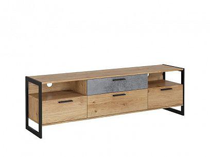 IKARIA televizní stolek, dub zlatý/oxid efek