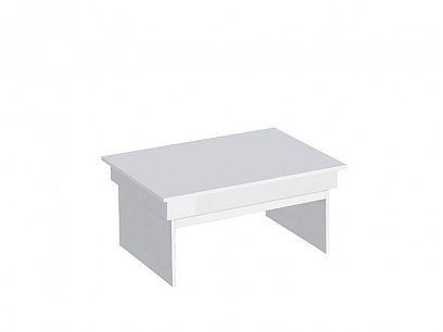 TIMOLA konferenční stolek, bílá mat/boční lišta bílý lesk