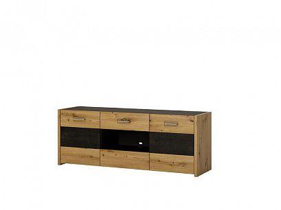ASINARA televizní stolek F02, dub artisan/šedočerná