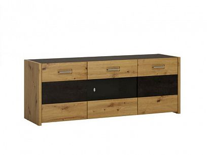 ASINARA televizní stolek F03, dub artisan/šedočerná