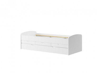 NIKOLETA 1 postel s rozkladem, bílá