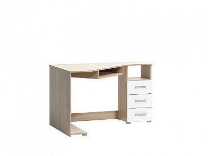 ARAMIS 18 psací stůl pravý, dub sonoma/bílá