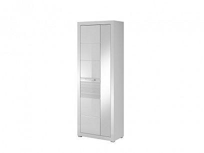 POLINA 05 šatní skříň, bílá/bílý vysoký lesk
