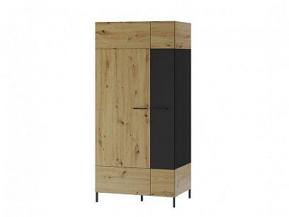 Laki 70 šatní skříň, dub artisan/černý mat