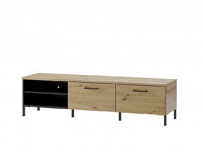 Laki 25 televizní stolek, dub artisan/černý mat