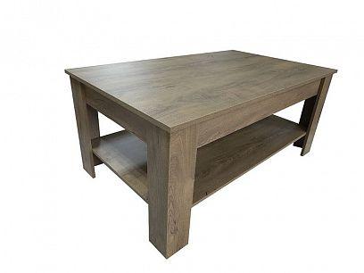 ARTUR konferenční stolek 110 X 67, dub burgunski lefkas
