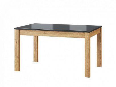 KAMALI 40 jídelní stůl, dub camargue/černá ekokůže