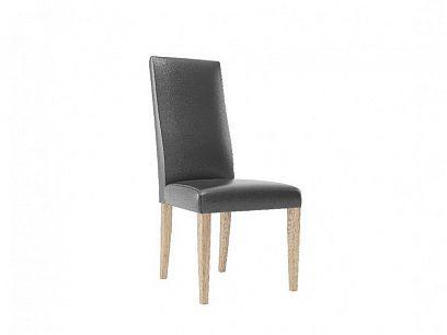 KAMALI 101 jídelní židle, dub camargue/černá ekokůže