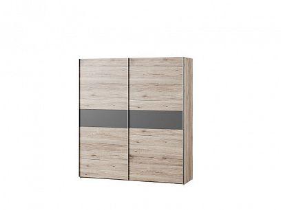 ROTTERDAM 2 č.1 šatní skříň , dub pískový/grafit