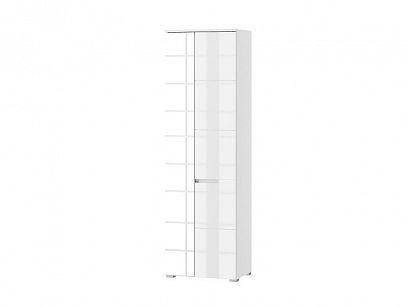 SAMOA 22 skříň se zrcadlem, bílý mat/bílý lesk