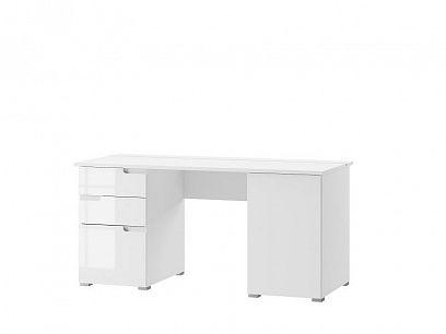 SAMOA 15 psací stůl, bílý mat/bílý lesk
