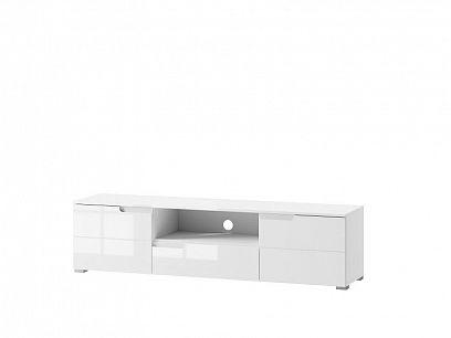 SAMOA 9 televizní stolek, bílý mat/bílý lesk