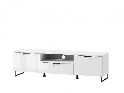 Male 05 televizní stolek, bílá mat/bílá lesk