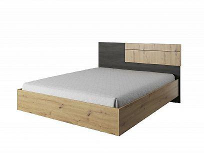 Bergamo BA31 postel 160, dub artisan/borovice černá norská