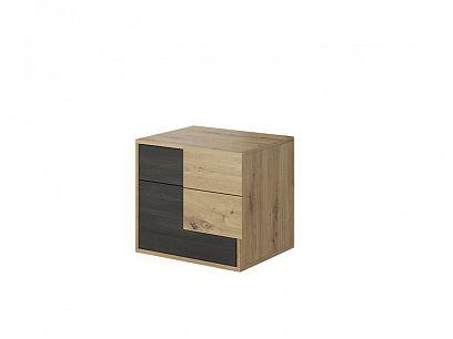 Bergamo BA 23 noční stolek, dub artisan/borovice černá norská