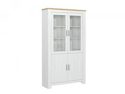 ROTTERDAM 22 vitrína široká, borovice bílá andersen/dub
