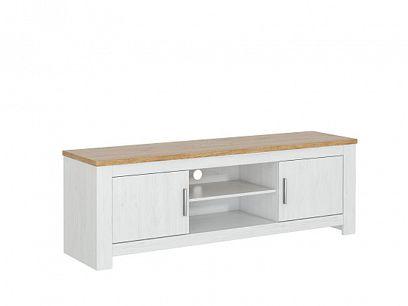 ROTTERDAM 62 televizní stolek, borovice bílá andersen/dub