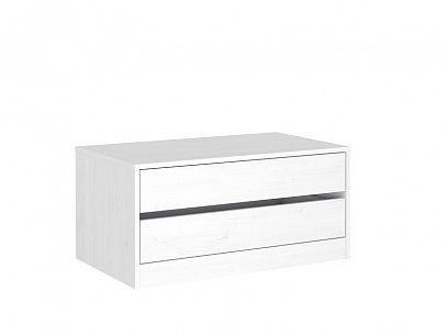 SOUL 2S kontejner do šatní skříně, bílá gravír