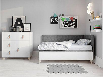 Felicita New postel 80, levá, šedá