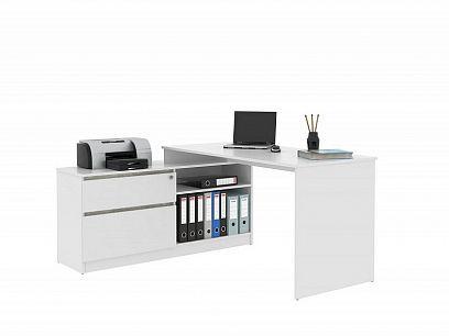 GEEP 01 psací stůl, bílá/beton
