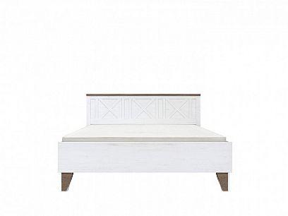 Timika postel LOZ180, včetně roštu, borovice bílá anderson/dub sonoma tmavý
