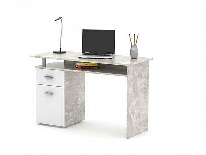 PATRIK psací stůl, beton/bílá