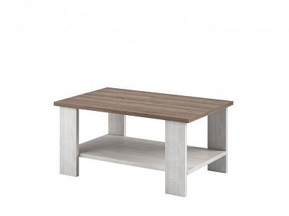 NAPOLI 17 konferenční stolek, bílá northland/dub sonoma tmavý