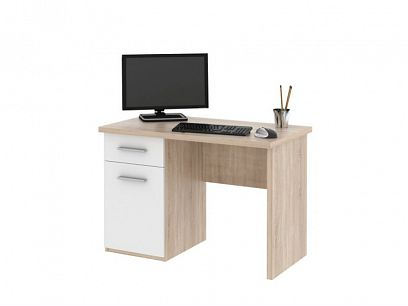 OLIVER psací stůl, dub sonoma/bílá