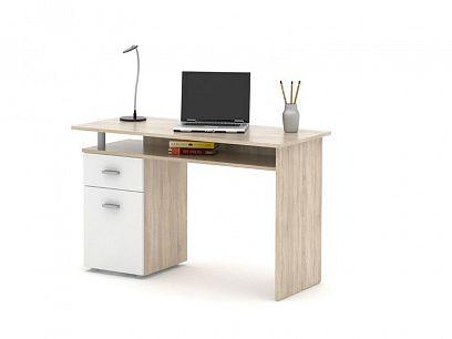 PATRIK psací stůl, dub sonoma/bílá